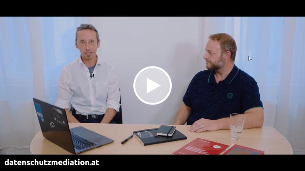 Ulrich Wanderer im Gespräch mit dem Datenschutzexperten Christof Tschohl